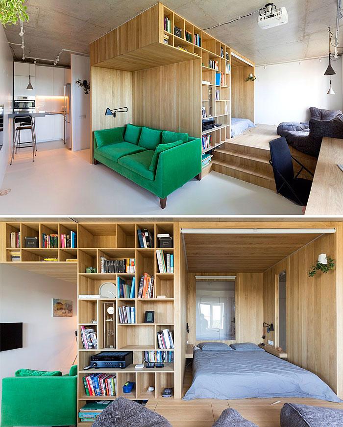Ιδανική διαρρύθμιση για ράφια και ντουλάπια μικρού χώρου